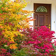 Front Yard Autumn Decor, Quincy California Art Print