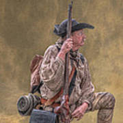 Frontiersman Golden Morning Print by Randy Steele