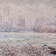 Frost Near Vetheuil Art Print by Claude Monet