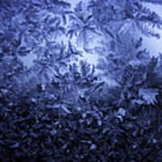 Frost on window #3 Art Print
