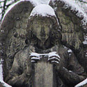 Frosted Stone Angel Art Print
