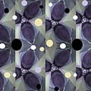 Frosted Purple Flower Art Print