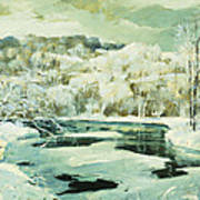 Frosted Trees Art Print by Jonas Lie