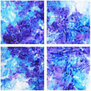 Frosted Window Abstract Collage Art Print