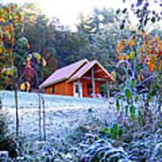Frosty Cabin Art Print
