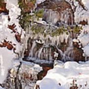 Frosty Cascades Art Print