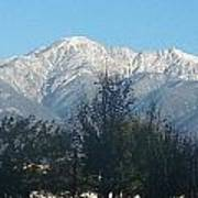 Frosty Mountain Top View From Rancho Cucamonga Ca. Art Print
