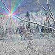 Frosty Window Distant Sun Art Print