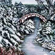 Frozen Brook - Winter - Bridge Art Print