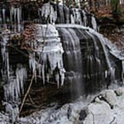 Frozen Buttermilk Falls Print by Anthony Thomas