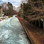 Frozen Canal Art Print