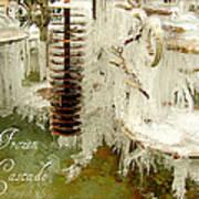 Frozen Cascade Art Print