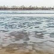Frozen Dnieper River Art Print