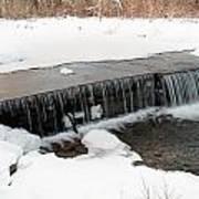 Frozen Falls At Pine Creek Art Print