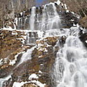 Frozen Falls From The Bridge Art Print