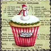 Frozen Frosty Cupcake Art Print
