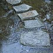 Slippery Stone Path Art Print