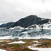 Frozen Lake - Dalsnibba Mountains Art Print
