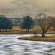 Frozen Lake Art Print by Kathy Jennings