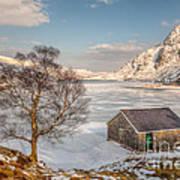 Frozen Lake Ogwen Art Print