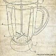 Frozen Margarita Recipe Patent Art Print by Edward Fielding