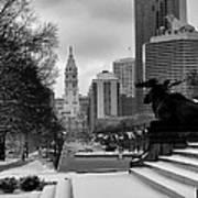 Frozen Philadelphia Art Print