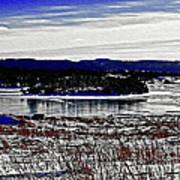 Frozen Pond Digital Painting Art Print