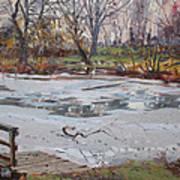 Frozen Pond Art Print