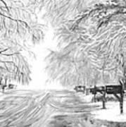 Frozen Rain  Art Print