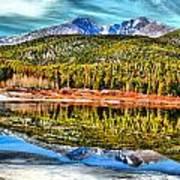 Frozen Reflection On Lily Lake Art Print by Rebecca Adams