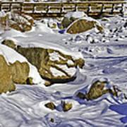 Frozen Roaring River Art Print by Tom Wilbert