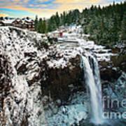Frozen Snoqualmie Falls Art Print