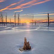 Frozen Sunrise Art Print