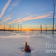 Frozen Sunrise V2 Art Print