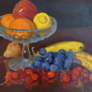 Fruit And Glass Print by Terry Perham