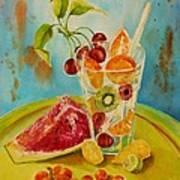 Fruit Coctail Print by Summer Celeste