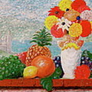 Fruit Flowers And Castle Art Print