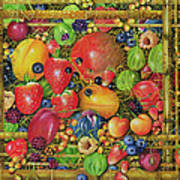 Fruit In Bamboo Box Art Print