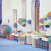 Fruit Market In Tuscany Art Print