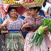 Fruit Sellers In Antigua Guatemala Art Print by David Smith