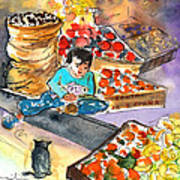 Fruit Shop In The Mountains Of Gran Canaria Art Print