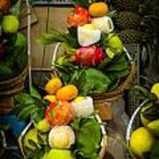 Fruit Stall In Vietnamese Market Art Print