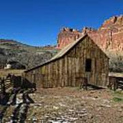 Fruita Horse Stable Capitol Reef National Park Utah Art Print