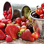 Fruits And Berries Art Print