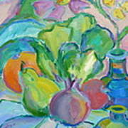 Fruits And Veggies  Art Print by Brenda Ruark