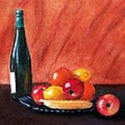 Fruits And Wine Art Print