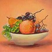 Fruits In A Plate Art Print