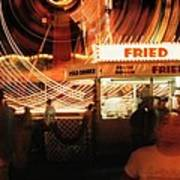 Fryeburg Fair At Night  Fried Dough Art Print