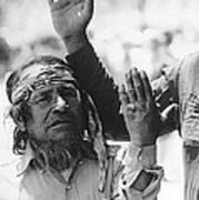 Ft. Apache Homage 1948 Ft. Apache Celebration Ft. Apache Arizona Saluting Apaches 1970 Art Print