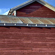 Ft Collins Barn 13550 Art Print by Jerry Sodorff